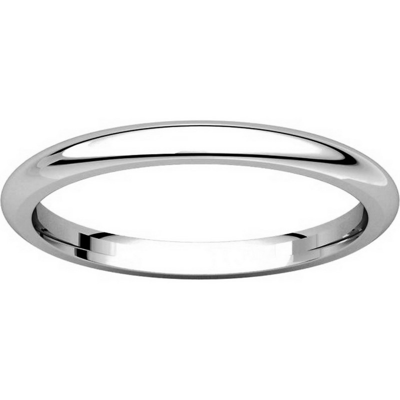 Item # UH123782PP View 3 - Platinum 2mm Heavy Comfort Fit Plain Wedding Band