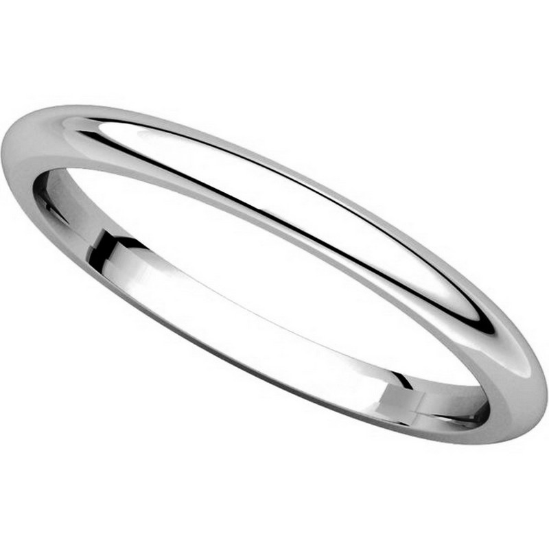 Item # UH123782PP View 4 - Platinum 2mm Heavy Comfort Fit Plain Wedding Band
