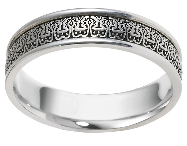 Item # V11473W View 2 - 14K Verona Lace Wedding Band