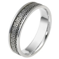 Item # V11473WE - 18K Verona Lace Wedding Band