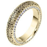 Item # V11474E - 18K Diamond Eternity Ring Verona Lace