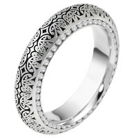 Item # V11474WE - 18K Diamond Verona Lace Eternity Wedding Band Juliet