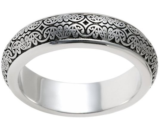 Item # V11475W View 2 - 14K Verona Lace Wedding Band, Romeo