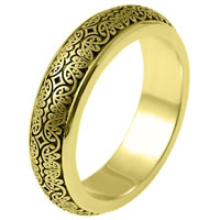 Item # V11475E - 18K Gold Verona Lace Wedding Band. Romeo