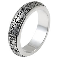 Item # V11475PD - Palladium Verona Lace Wedding Band, Romeo