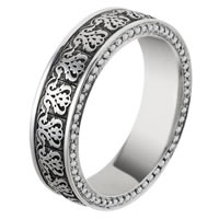 Item # V11476PD - Palladium Verona Lace Diamond Eternity Ring Juliet