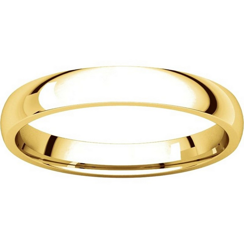 Item # V123791 View 3 - 14K Gold Plain 3mm Comfort Fit Wedding Band