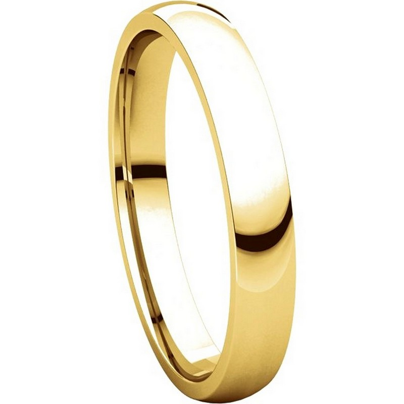 Item # V123791 View 5 - 14K Gold Plain 3mm Comfort Fit Wedding Band