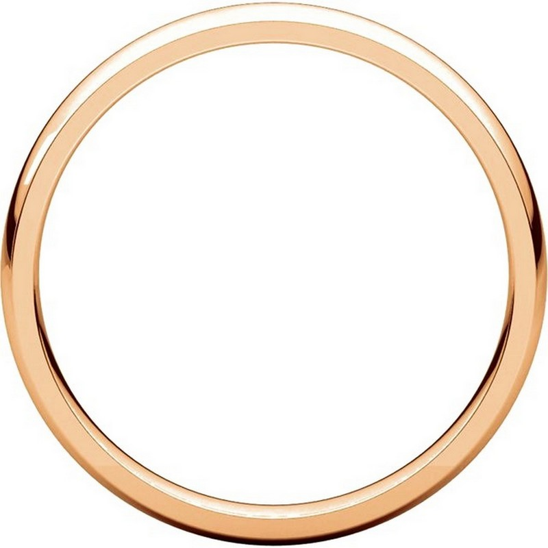 Item # V123791R View 2 - 14K Rose Gold Plain 3mm Comfort Fit Wedding Band