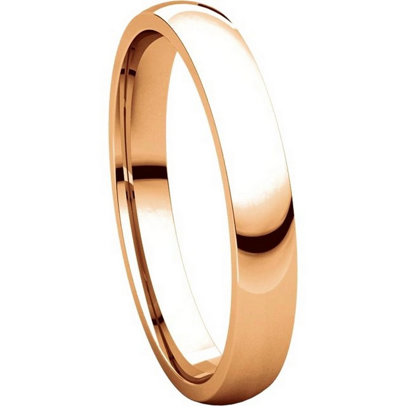 Item # V123791R View 5 - 14K Rose Gold Plain 3mm Comfort Fit Wedding Band