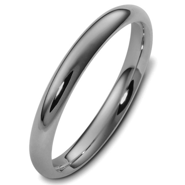 Item # V123791TI - Titanium, 3.0 mm wide, comfort fit, wedding band. The finish on the ring is polished. Other finishes may be selected or specified.