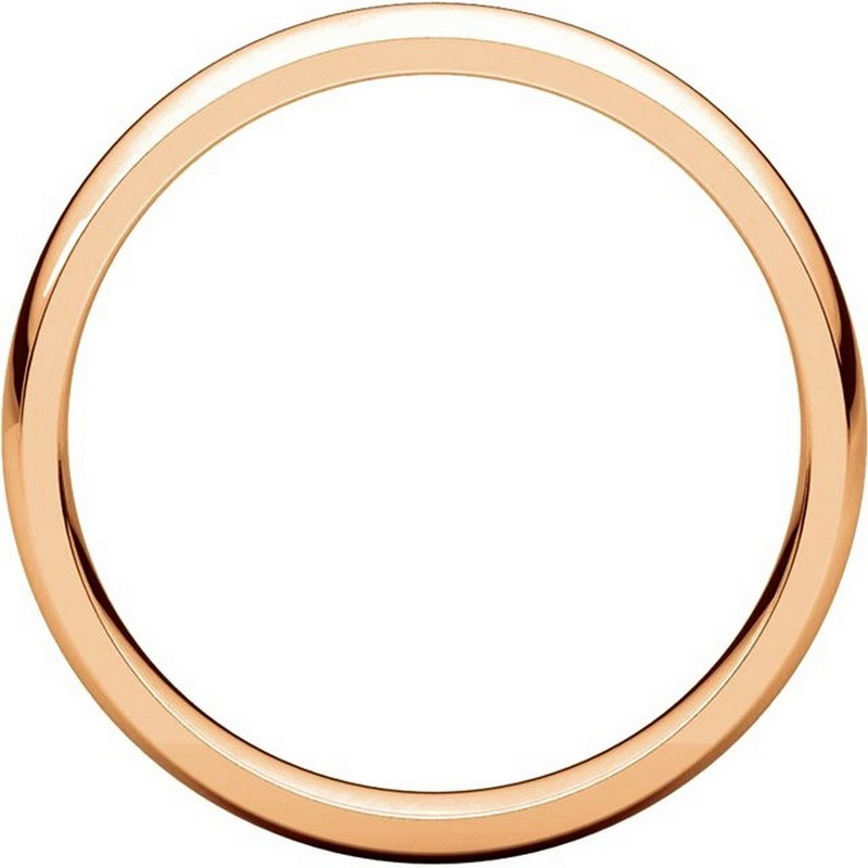 Item # V123801R View 2 - 14K Rose Gold Traditional Plain 4mm Comfort Fit Band