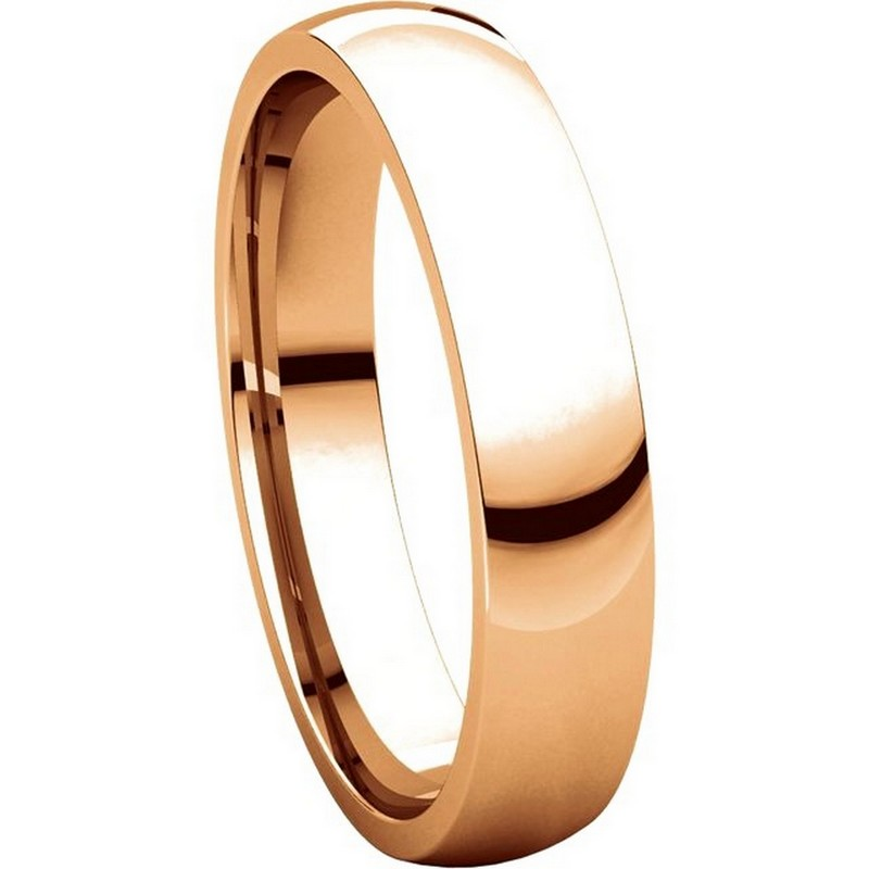 Item # V123801R View 5 - 14K Rose Gold Traditional Plain 4mm Comfort Fit Band