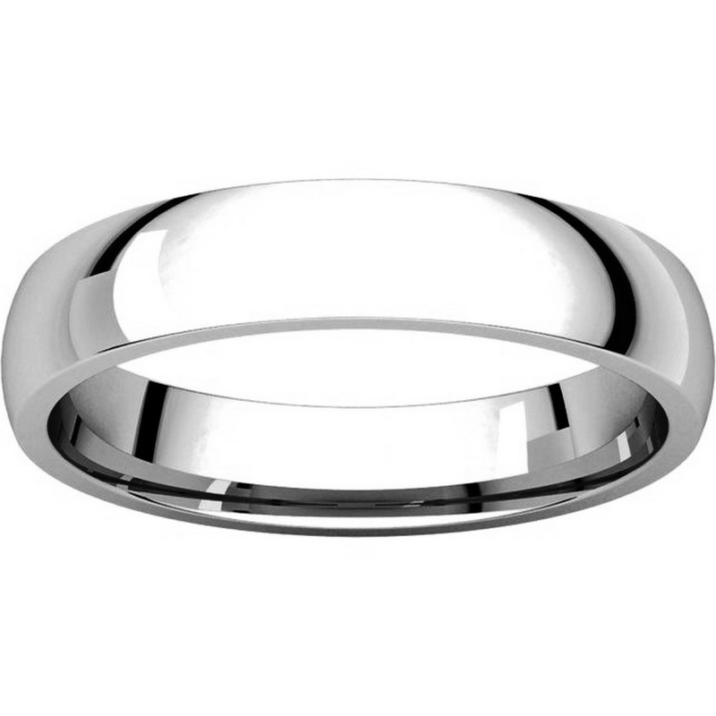 Item # V123801W View 3 - 14K White Gold Traditional Plain 4mm Comfort Fit Band