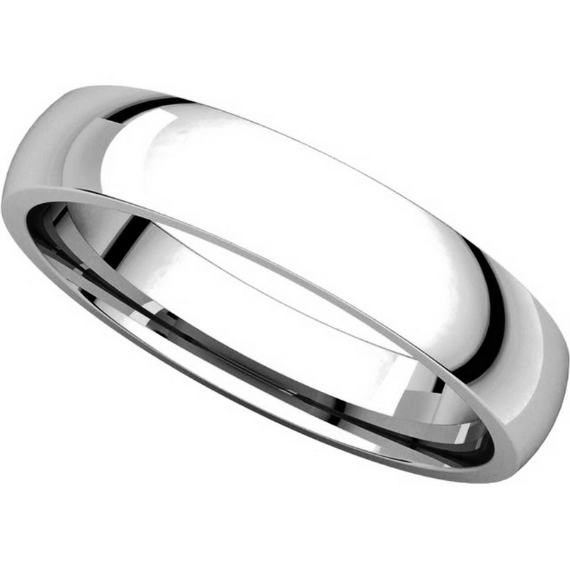 Item # V123801W View 4 - 14K White Gold Traditional Plain 4mm Comfort Fit Band