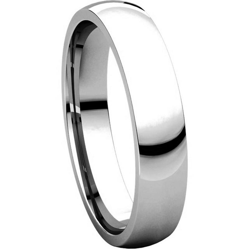 Item # V123801W View 5 - 14K White Gold Traditional Plain 4mm Comfort Fit Band