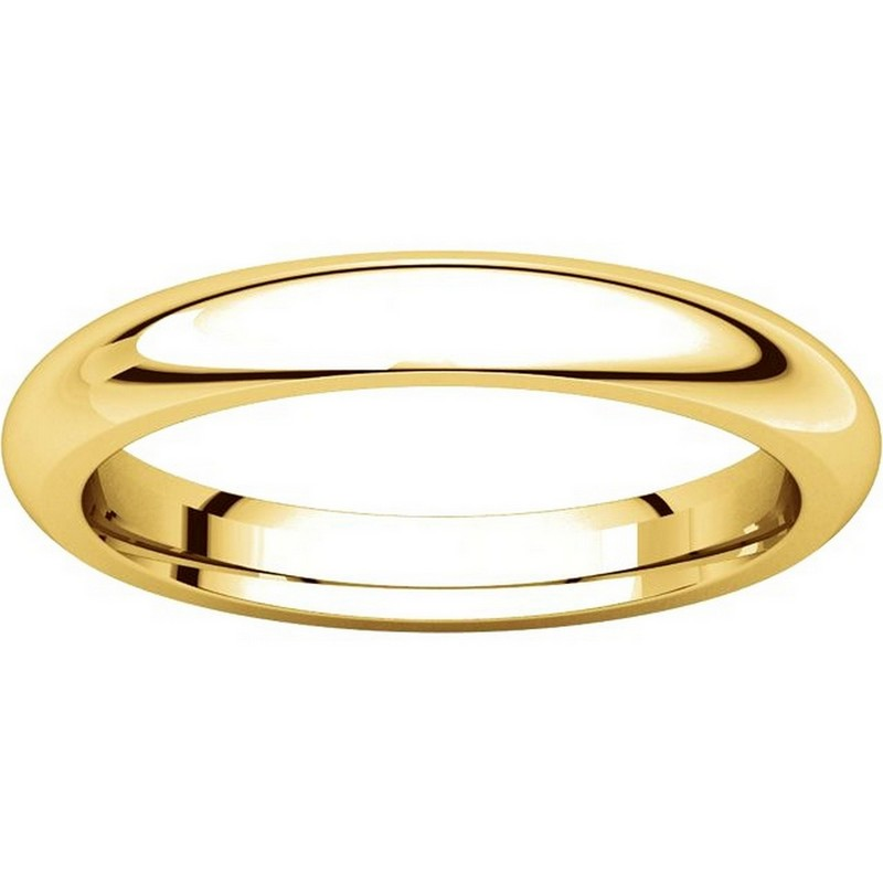 Item # VH123793E View 3 - 18K Gold 3mm Heavy Comfort Fit Plain Wedding Band