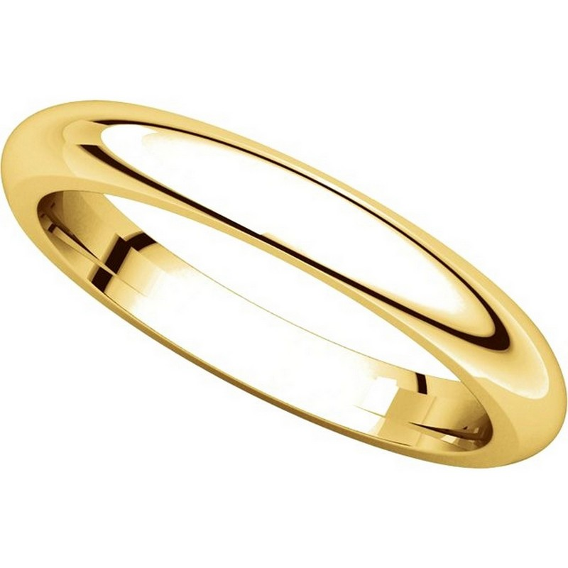 Item # VH123793E View 4 - 18K Gold 3mm Heavy Comfort Fit Plain Wedding Band