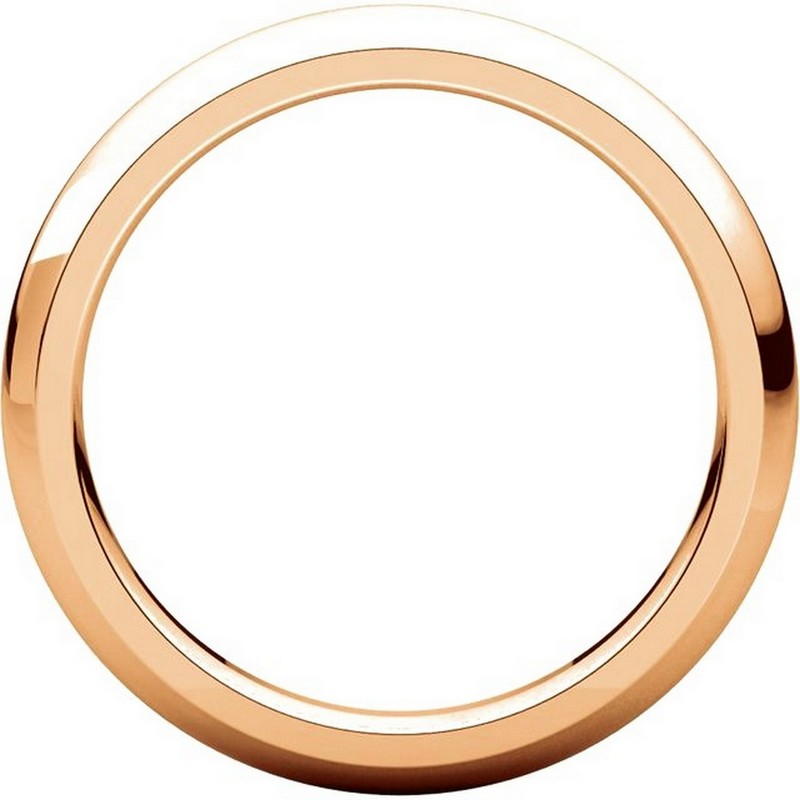 Item # VH123793RE View 2 - 18K Rose Gold 3mm Heavy Comfort Fit Plain Wedding Band