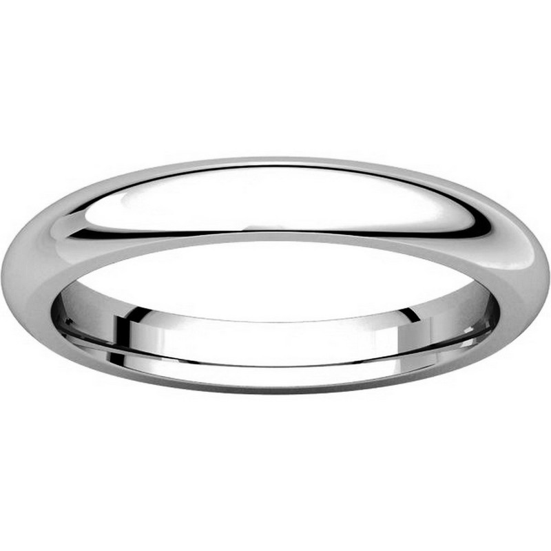 Item # VH123793W View 3 - 14K White Gold 3mm Heavy Comfort Fit Plain Wedding Band