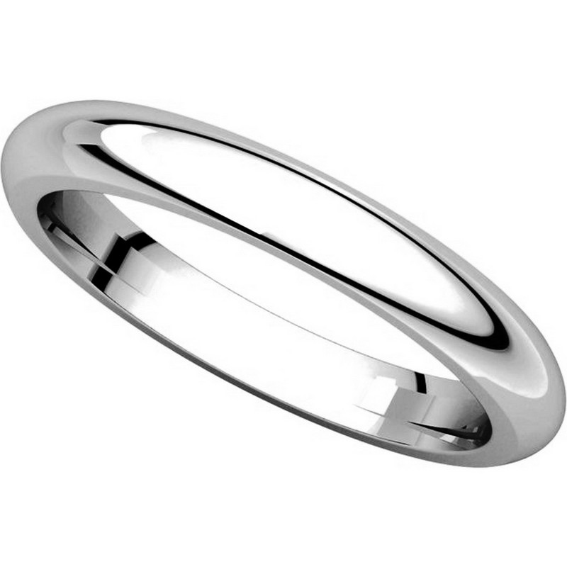 Item # VH123793W View 4 - 14K White Gold 3mm Heavy Comfort Fit Plain Wedding Band