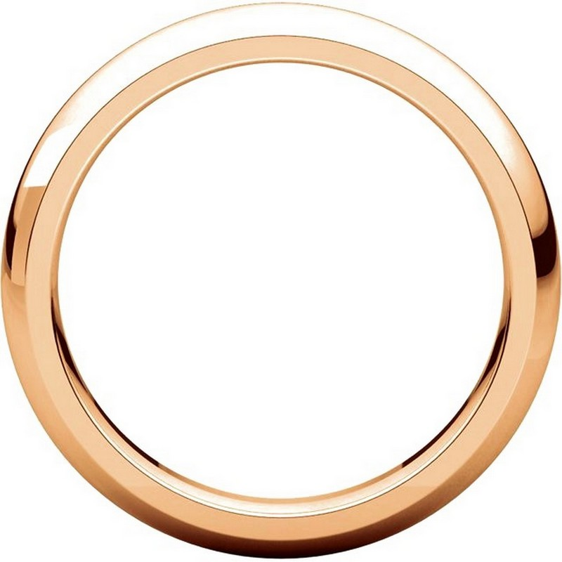 Item # VH123804RE View 2 - 18K Rose Gold 4mm Heavy Comfort Fit Plain Wedding Band