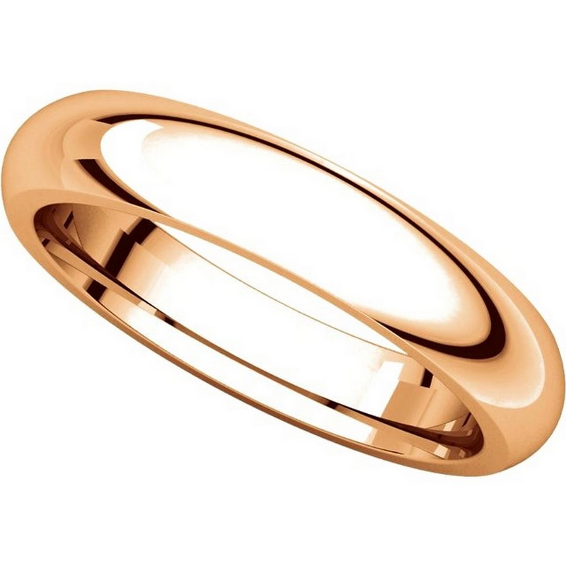 Item # VH123804RE View 4 - 18K Rose Gold 4mm Heavy Comfort Fit Plain Wedding Band