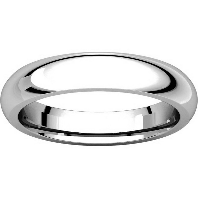 Item # VH123804W View 3 - 14K White Gold 4mm Heavy Comfort Fit Plain Wedding Band