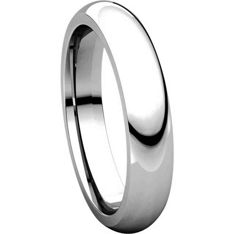 Item # VH123804W View 5 - 14K White Gold 4mm Heavy Comfort Fit Plain Wedding Band