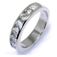 Item # W2150050W - 14K White Gold Diamond Anniversary Band