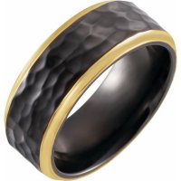 Item # WB57946TI - Black Titanium Wedding Band