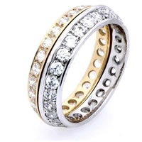 Item # WB5860EA - 18K Gold Diamond Eternity Band
