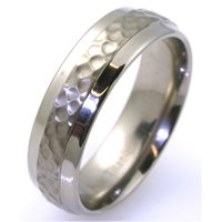 Item # WB7658TI - Titanium Hammer Finished Wedding Ring
