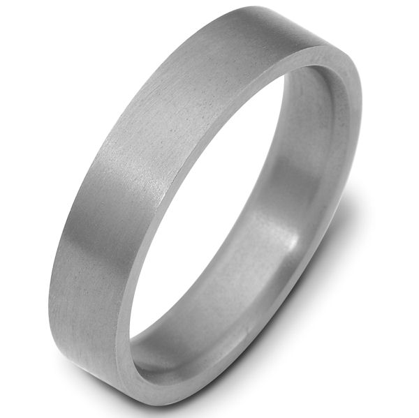 Item # X114751TI - Titanium, 5.0 mm wide, comfort fit titanium wedding band. The finish is brushed. Other finishes may be selected or specified.