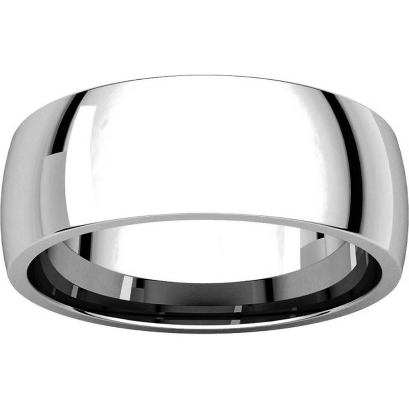Item # X116831W View 3 - 14K White Gold 7 mm Comfort Fit Plain Wedding Ring
