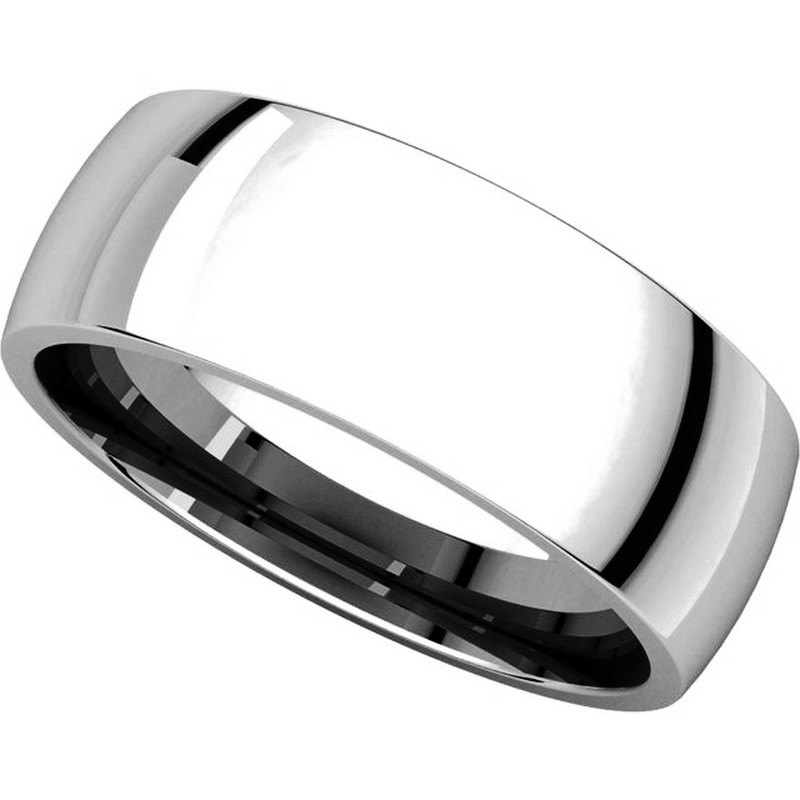 Item # X116831W View 4 - 14K White Gold 7 mm Comfort Fit Plain Wedding Ring