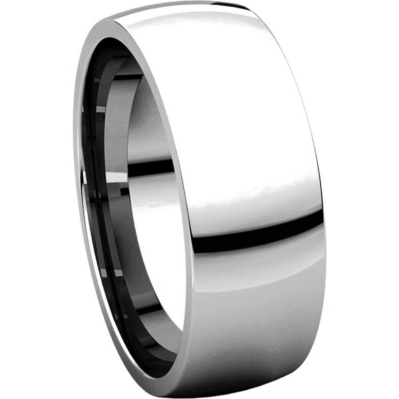 Item # X116831W View 5 - 14K White Gold 7 mm Comfort Fit Plain Wedding Ring