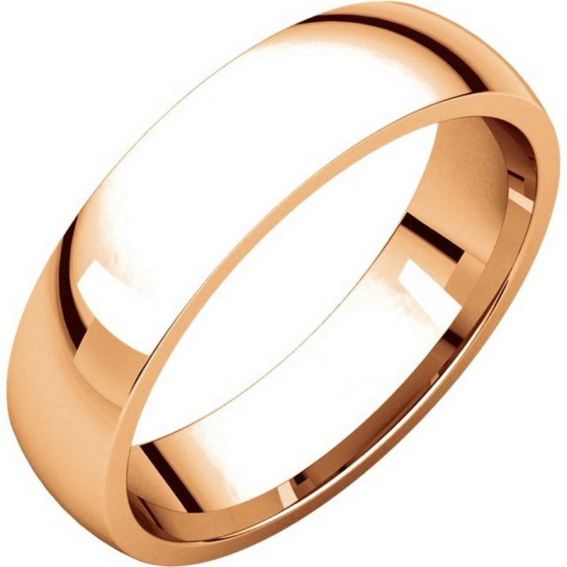 Item # X123811RE - 18K Rose gold, 5.0 mm wide, comfort fit, wedding band. The finish on the ring is polished. Other finishes may be selected or specified.