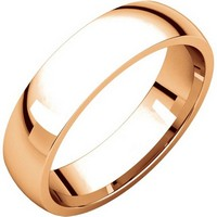 Item # X123811RE - 18K Rose Gold 5mm Comfort Fit Plain Wedding Band