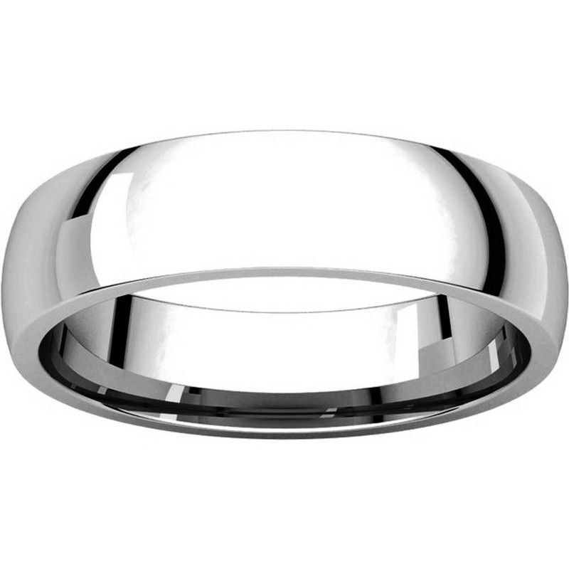 Item # X123811WE View 3 - 18K White Gold 5mm Comfort Fit Plain Wedding Band