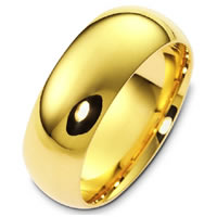 Item # X1238310 - 14K Gold 10mm Comfort Fit Plain Band
