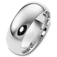Item # X1238310W - 14K White Gold 10mm Comfort Fit Plain Wedding Band