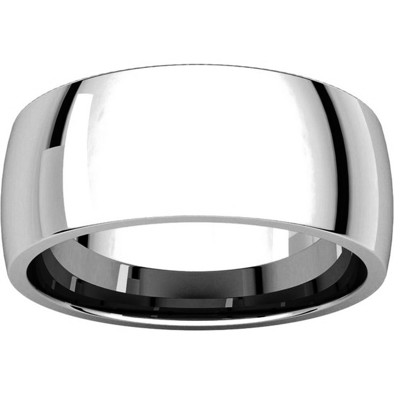 Item # X123831W View 3 - 14K White Gold 8mm Comfort Fit Wedding Band