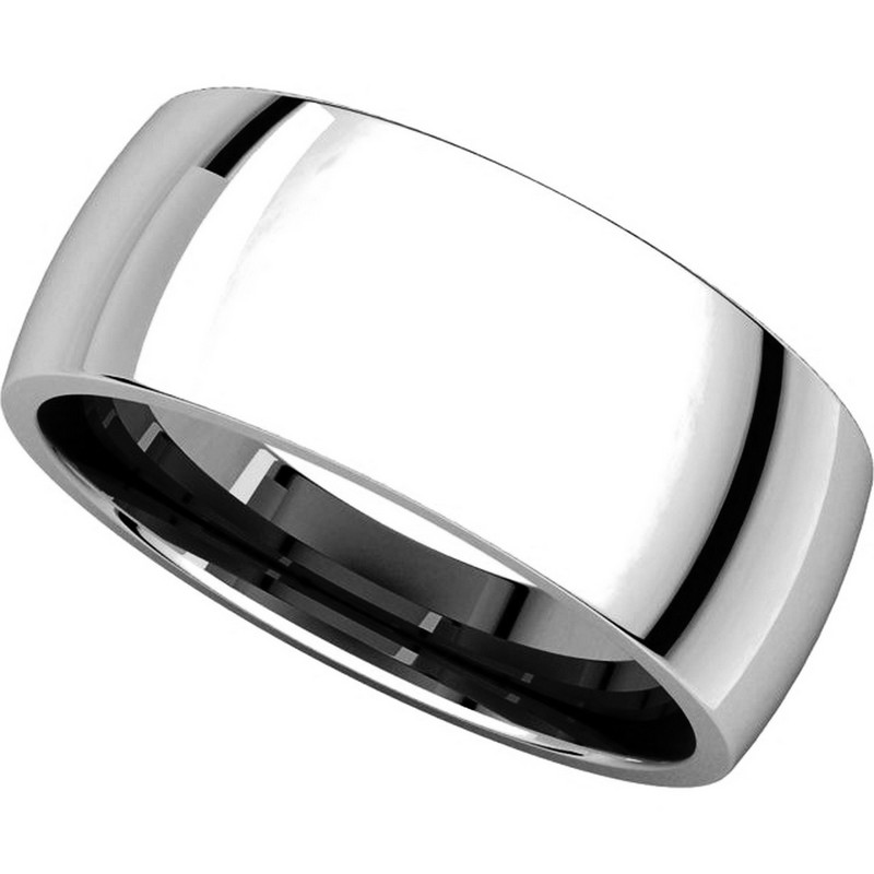 Item # X123831W View 4 - 14K White Gold 8mm Comfort Fit Wedding Band