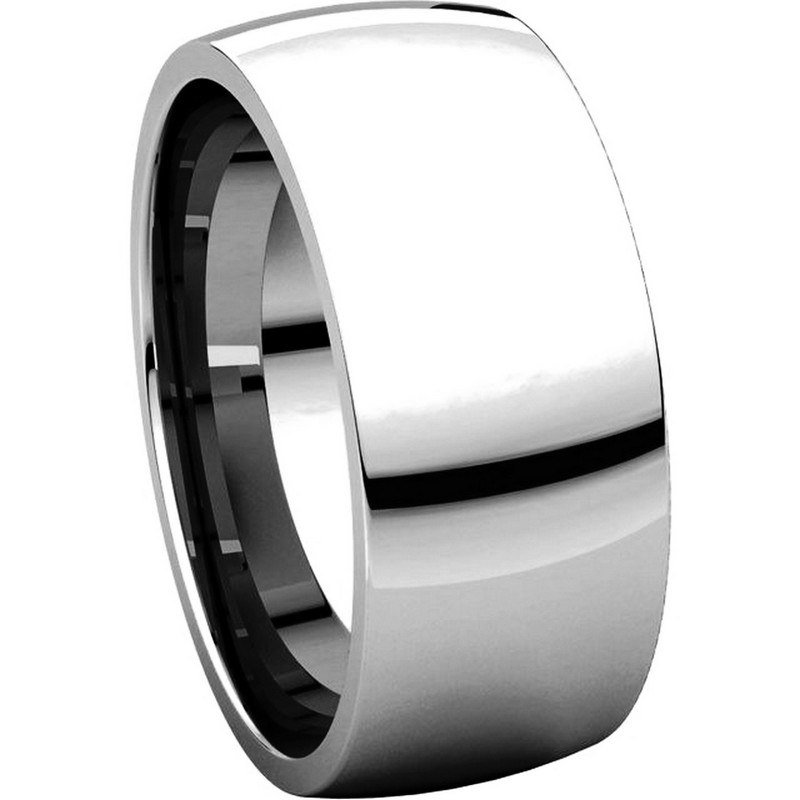 Item # X123831W View 5 - 14K White Gold 8mm Comfort Fit Wedding Band