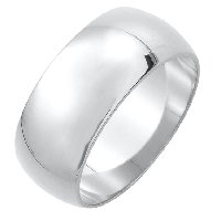 Item # XH1168310AG - Silver 925 10mmHeavy Comfort Fit Plain Wedding Band