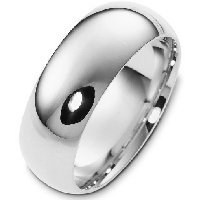 Item # XH1168310WE - 18K White Gold 10mm  Heavy Comfort Fit Wedding Band