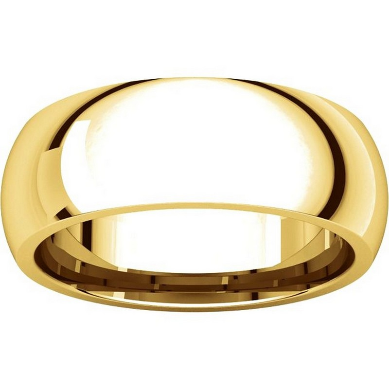 Item # XH116837 View 3 - 14K Gold 7mm Heavy Comfort Fit Plain Wedding Band