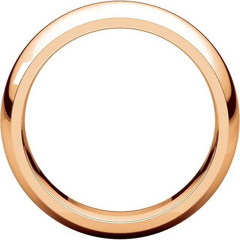 Item # XH116837RE View 2 - 18K Rose Gold 7mm heavy Comfort Fit Plain Wedding Band