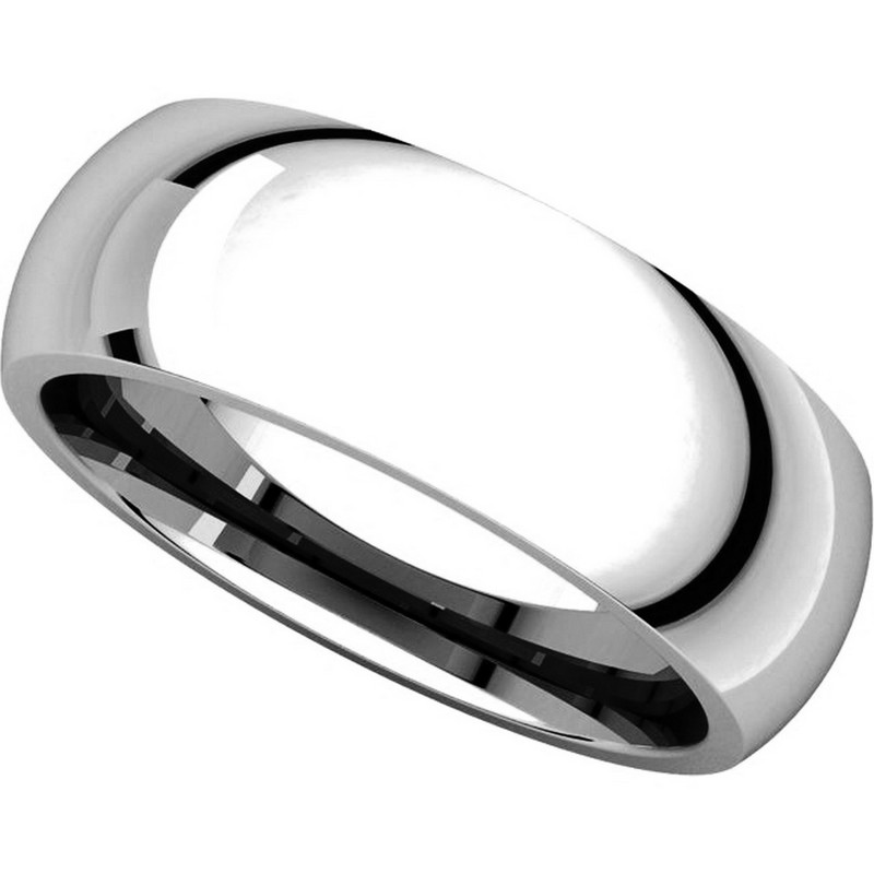 Item # XH116837WE View 4 - 18K White Gold 7mm heavy Comfort Fit Plain Wedding Band